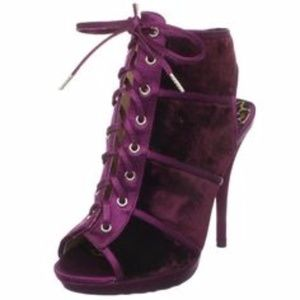 Betsey Johnson Alison BLACK Velvet Heels